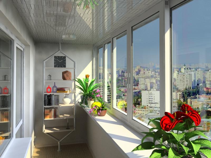 Алюминиевые окна и остекление балконов.